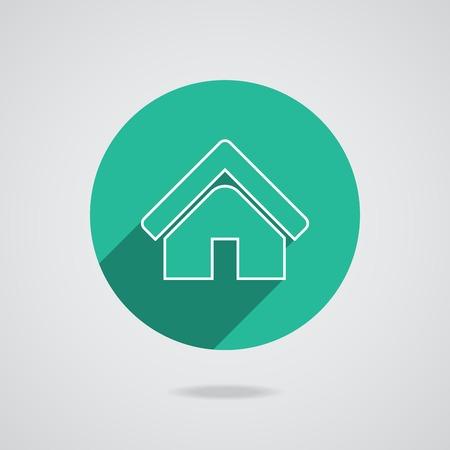 House abstract real estate countryside logo design template. Realty theme icon.  Vector