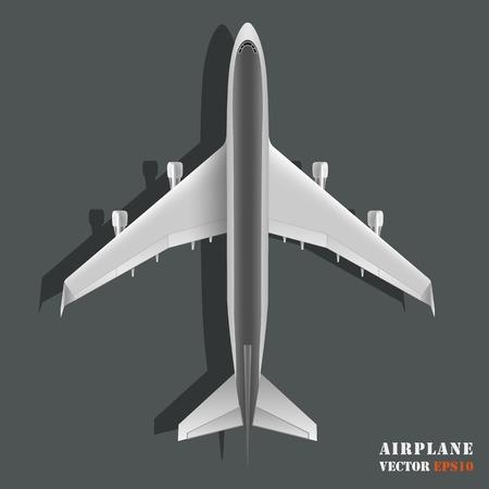 Realistic large passenger airplane isolated on background. Design element plane. Vector illustration icon EPS10