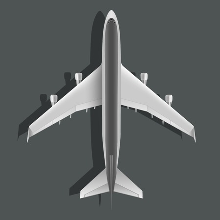 model airplane: Realistic large passenger airplane isolated on background.