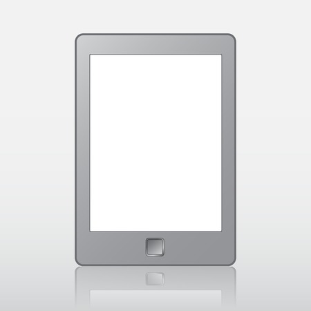 kindle: Illustration of a portable modern tablet pc e-book reader. For reading book.