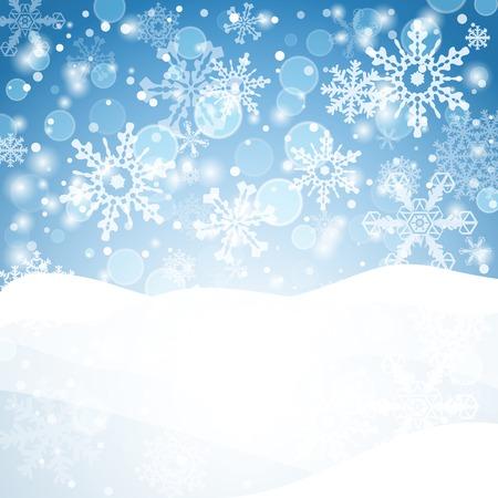 雪片の背景。幾何学的自然フレーク図形要素。ご挨拶バナー、冬の休暇。ベクトル EPS10。  イラスト・ベクター素材