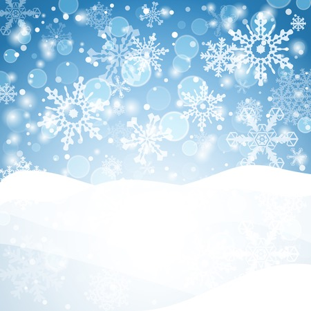 Snowflakes background. Geometric natural flakes shapes elements. Greetings banner winter holiday. Vector EPS10.