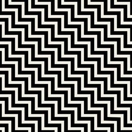 ベクトルのシームレスなパターンのテクスチャです。抽象的な背景黒ジグザグ線に。モノクロ クリエイティブ イラスト。