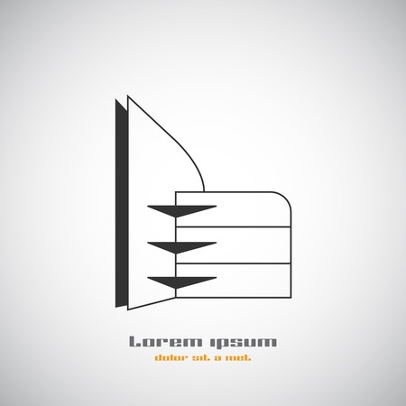 abstract building: Abstract building silhouette. Illustration