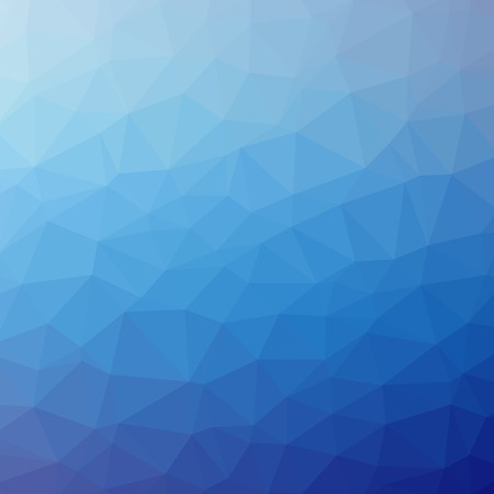 blue print: Triangle pattern background. Colorful mosaic banners illustration Stock Photo
