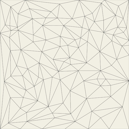 Irregular abstract linear grid triangle. Reticulated monochrome texture pattern. Vector illustration