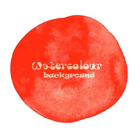 colores pastel: Pintado a mano abstracto Dise�ado fondo de la acuarela. En rojo aislado en blanco. Ilustraci�n vectorial