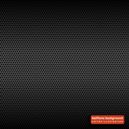 Halftone seamless pattern. Abstract background with black dots. Vector