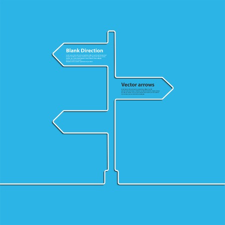 junction: Creative direction arrow sign. The concept of choosing the direction of the road junction. Vector