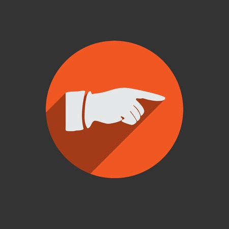 hit tech: Hand finger icon. Red button for web.