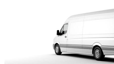 Commerciële bestelwagen op een witte achtergrond met schaduw Stockfoto - 39575256