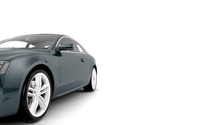coupe: CG render of generic luxury coupe car