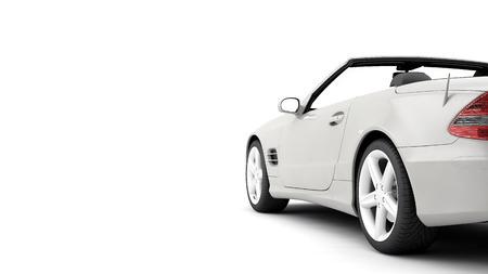 一般的な高級クーペ車の CG レンダリングします。 写真素材