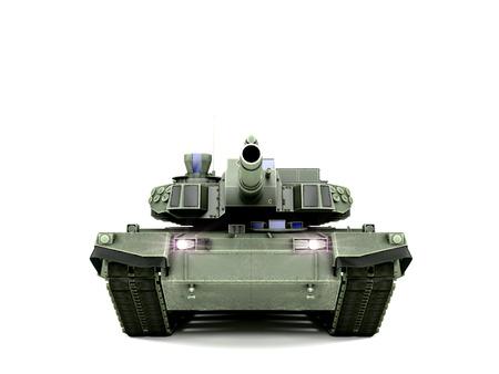T-90 Main Battle Tank, isolated on white background Stockfoto
