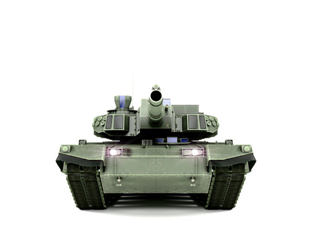 T-90 Main Battle Tank, isolated on white background Stock Photo
