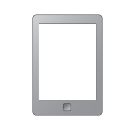 Vector illustration of a portable modern tablet pc e-book reader. For reading book. EPS10