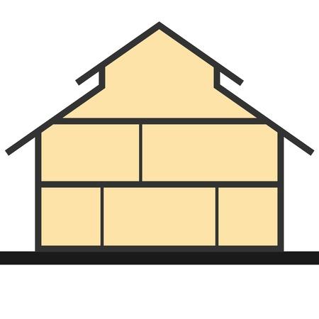 Vertical cross section building illustration