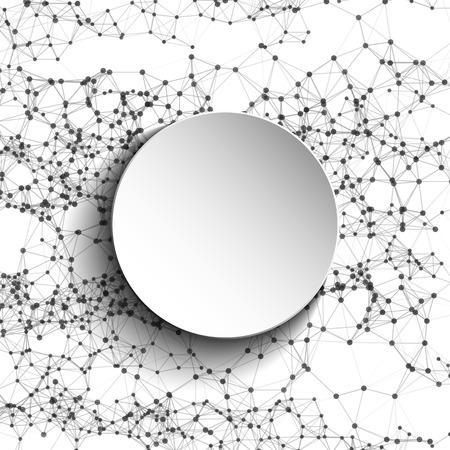 mesh: Abstract mesh white round