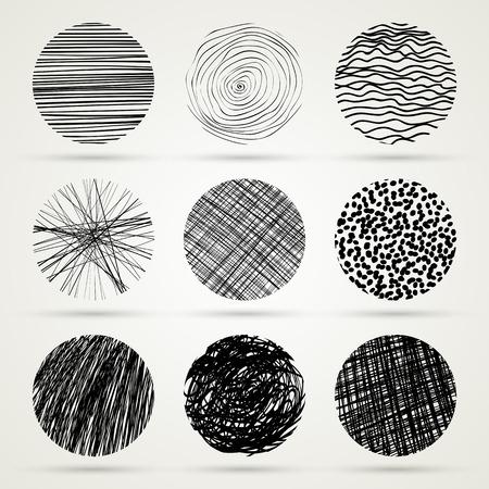 boring frame: Hand drawn scribble circles template. Monochrome creative illustration.