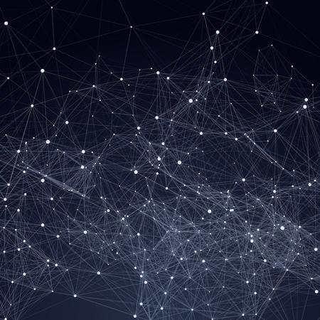 gitter: Abstrakt: Dreiecke Raum Low-Poly. Dunklen Hintergrund mit Verbindungs ??Punkte und Linien. Leichte Verbindungsstruktur. Polygonale Vektor Hintergrund. Futuristische HUD. Illustration