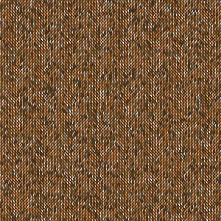 woolen: Seamless brown knitting pattern. Woolen cloth knitted background.