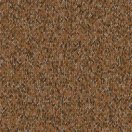 Seamless brown knitting pattern. Woolen cloth knitted background.