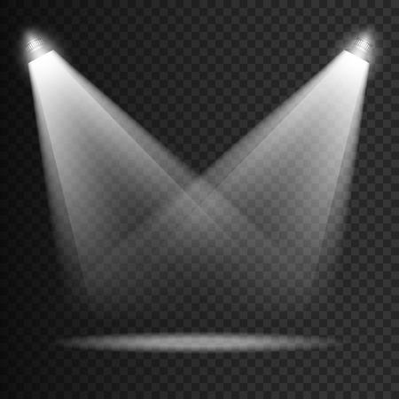 night club interior: Scene transparent lights effects on a plaid dark background.