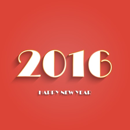 Happy new year 2016 creative greeting card logos design in red happy new year 2016 creative greeting card logos design in red and white color flat m4hsunfo