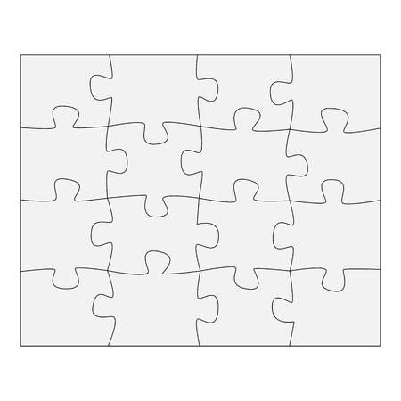 business symbols metaphors: Template paper for thinking puzzles games. Business concept infographics. Puzzle pieces and jigsaw puzzle. Vector illustration EPS 10 Illustration