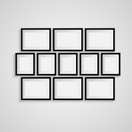 Many Black Blank Picture. Frame Template For Design Poster. Picture ...
