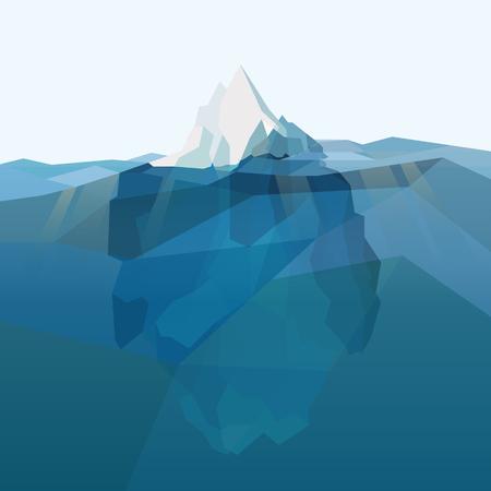 Iceberg polygonal background. Vector illustration eps 10 Иллюстрация