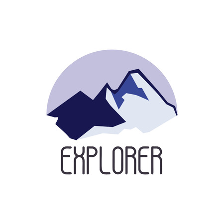 expedition: Mountain adventure and expedition logo badges collections. Travel emblems vector
