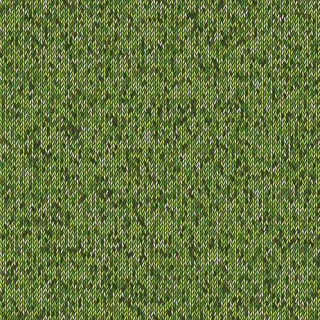 woolen: Seamless green knitting pattern. Woolen cloth knitted background. Graphic illustration