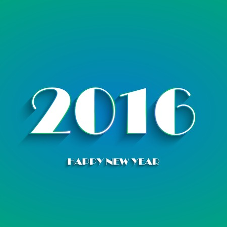 Happy new year 2016 creative greeting card logos design in blue happy new year 2016 creative greeting card logos design in blue and white color flat m4hsunfo