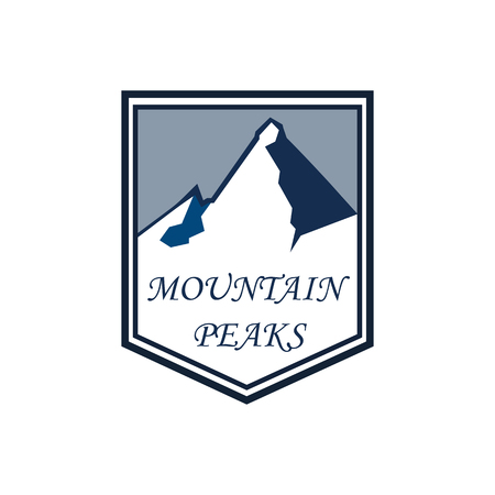 Mountain adventure and expedition logo badges collections. Travel emblems vector EPS10 Ilustrace