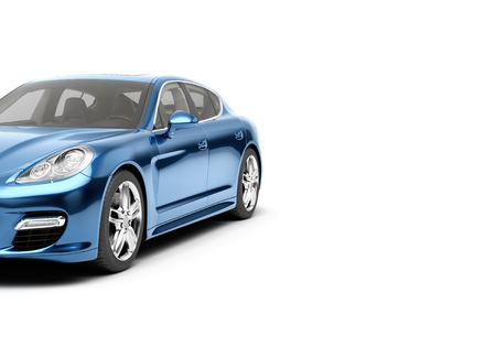CG 3d render of generic luxury sport car isolated on a white background. 3d illutration car Stock Photo - 68358583