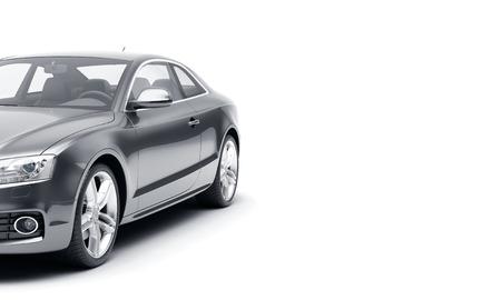 CG 白い背景に分離された汎用高級スポーツ車の 3 d レンダリング。3 d の illutration 車 写真素材