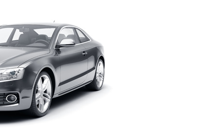 CG 3d render of generic luxury sport car isolated on a white background. 3d illutration car