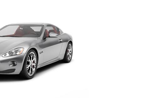 CG 3d rendu de voiture de sport générique de luxe isolé sur un fond blanc. Voiture 3d illutration Banque d'images - 68358586