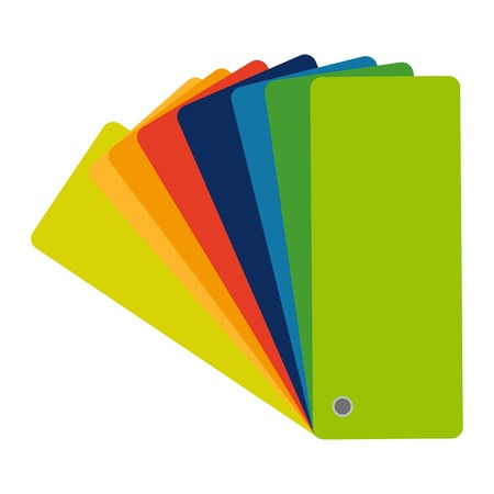 Color swatch, guide. Vector colorful flat icon
