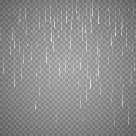 kropla deszczu: Transparent rain drops isolated on abstract background. Vector rainy drop effect Ilustracja