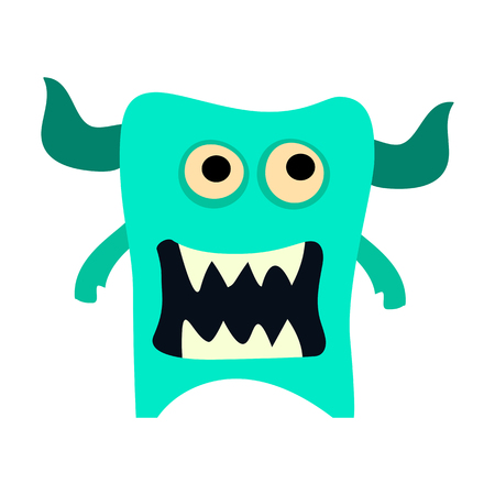 Big cartoon monster. Colorful toy cute monster. Vector