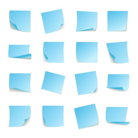 bend: Set of big collection paper curled corners of white sheet. Vector Illustration