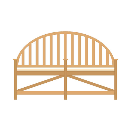Wooden Bench Benches Isolated Vector Flat View Icon Design Outdoor