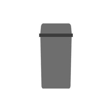 e waste: Waste can of garbage types. Container bin management and recycle concept with organic, paper, plastic, glass, metal, e- mixed. Trash separation. Sorting recycling. Vector rubbish