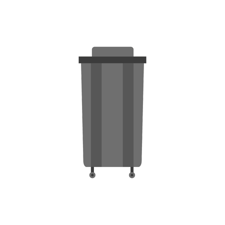 e waste: Waste can of garbage types. Container bin management and recycle concept with organic, paper, plastic, glass, metal, e-waste and mixed waste. Trash types separation of waste. Sorting waste recycling. Vector rubbish