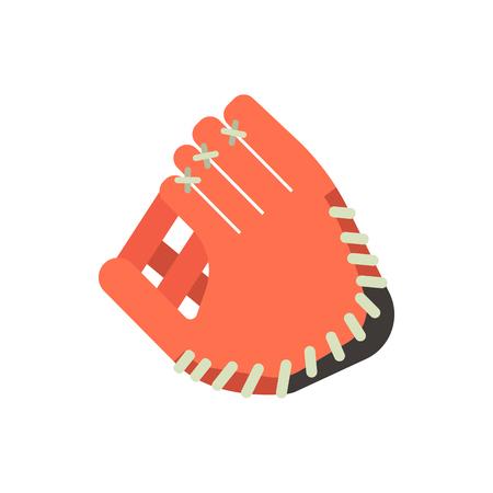 Baseball glove design elements. Game equipment object. Vector illustration.