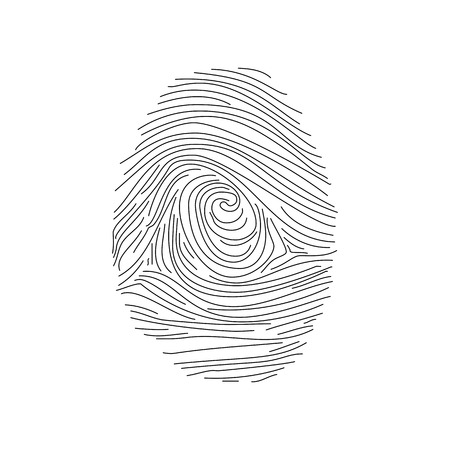 Set of fingerprints icons, id security identity. Vector illustration Illustration