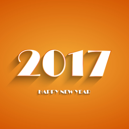 Happy New Year 2017 Background Calendar Decoration Greeting