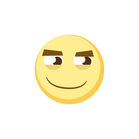 Yellow emoji icon for app game, ui or web design template. Vector emotion sign face Illustration